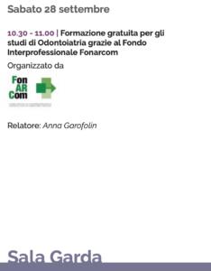 Formazione per gli studi di Odontoiatria al Congresso AIO