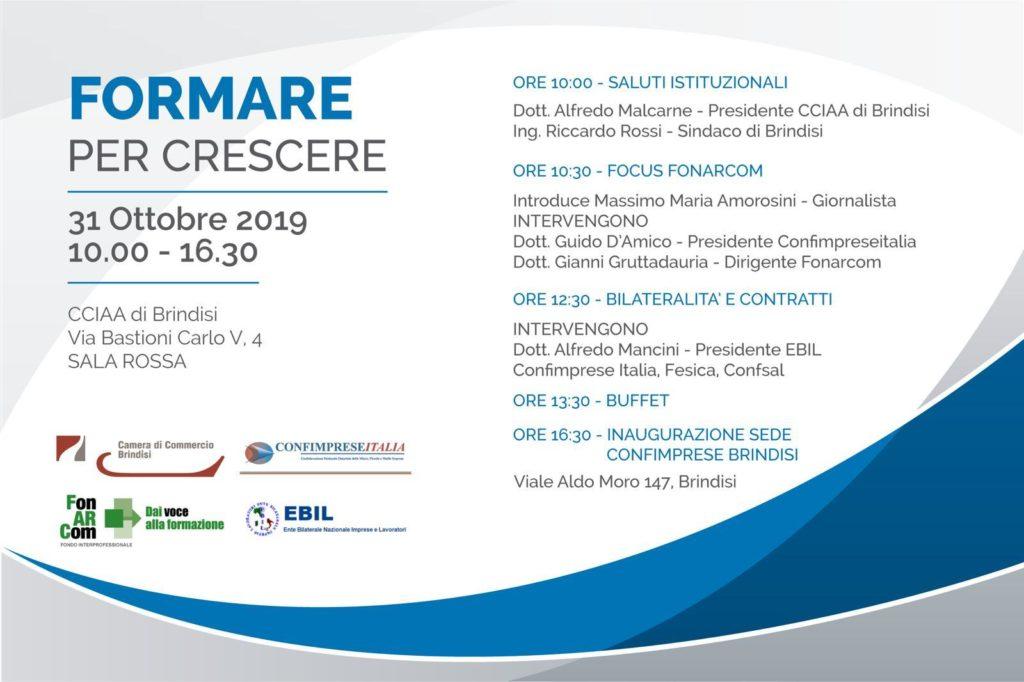 Formare per crescere Brindisi 31/10/2019