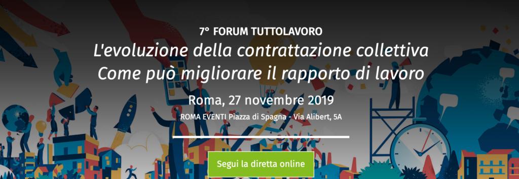 7° Forum Tuttolavoro 2019 Roma