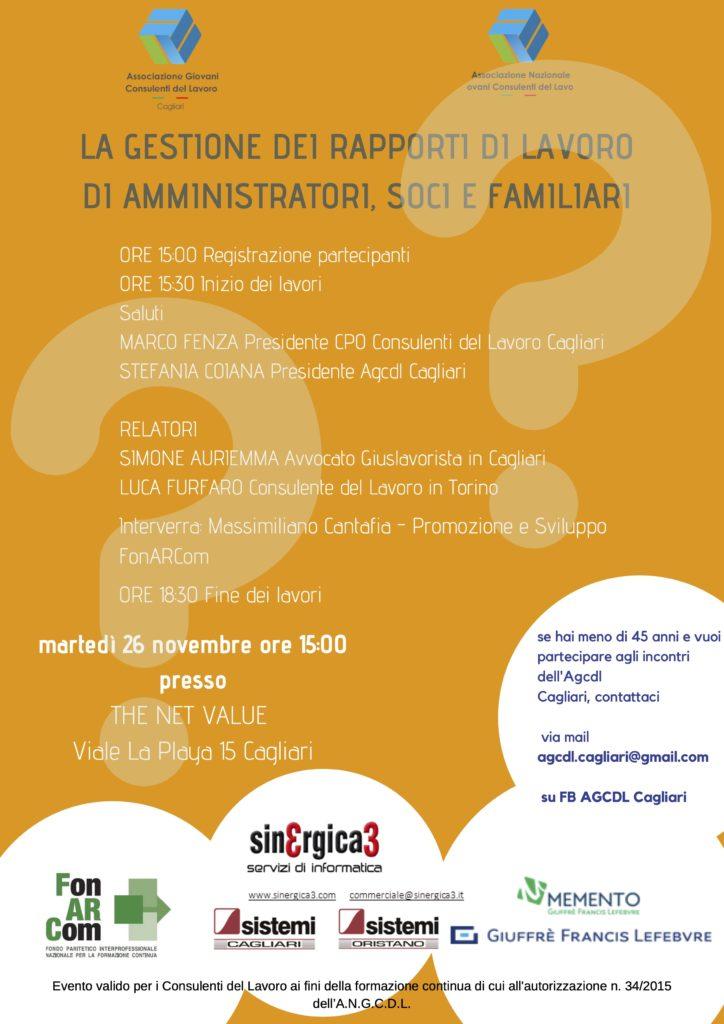 Gestione dei rapporti di lavoro Cagliari 26 novembre 2019