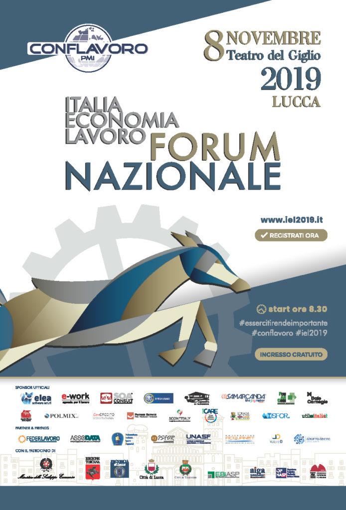 Italia Economia Lavoro Forum Nazionale Lucca 8/11/2019