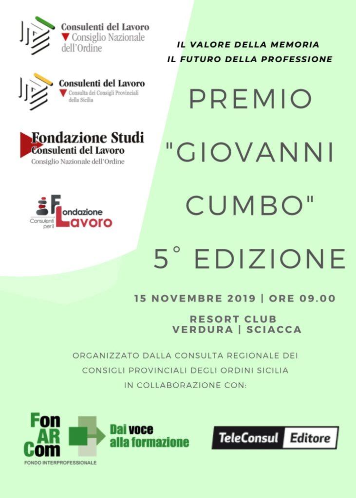 Premio Giovanni Cumbo 2019 Sciacca