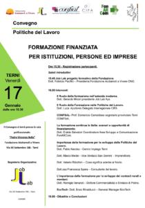 Formazione finanziata per istituzioni, persone e imprese - Convegno a Terni