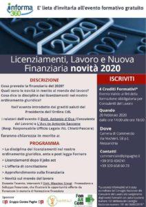 Licenziamenti, lavoro e nuova Finanziaria - Alessandria 20/02/2020