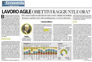 Lavoro agile, articolo Corriere della Sera