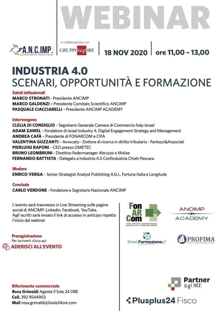 Industria 4.0 webinar 18/11/2020